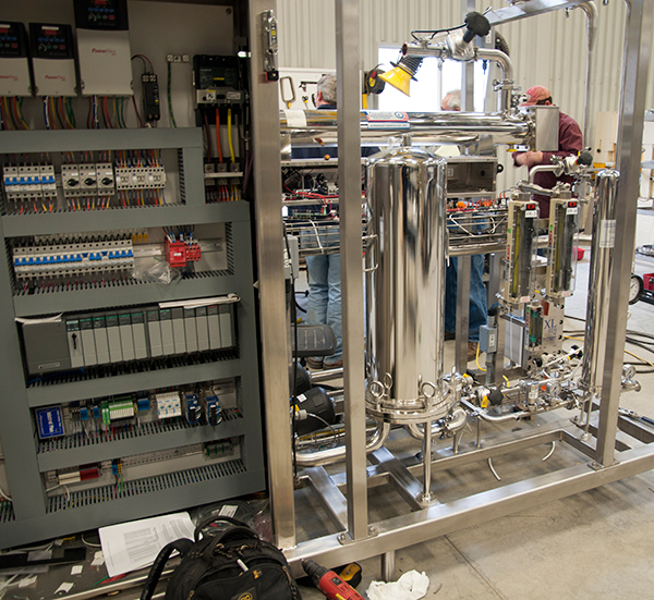 Pharma System Skid Being Built