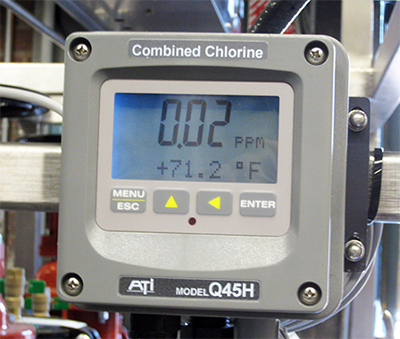 Post Carbon Chlorine Monitoring
